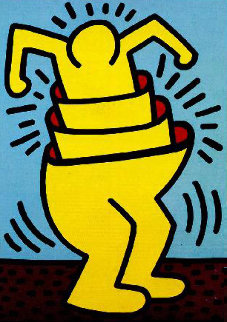 Untitled (Cup Man) 1989 HS Limited Edition Print - Keith Haring