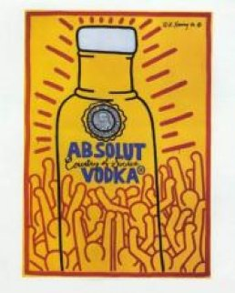 Absolut Vodka Poster 1986 Limited Edition Print - Keith Haring
