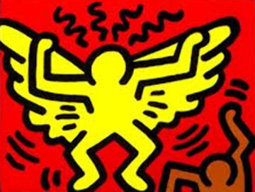 Radiant Angel (Pop Shop IV) 1989 Limited Edition Print - Keith Haring