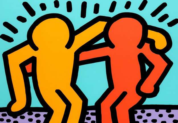 best buddies 1990 by keith haring