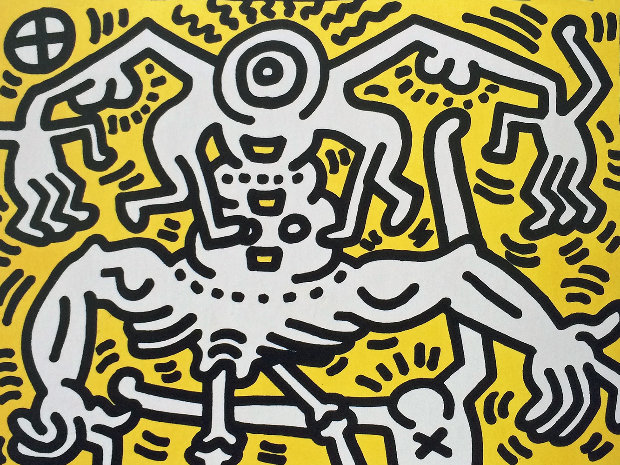 Image Result For Banksy Keith Haring Dog