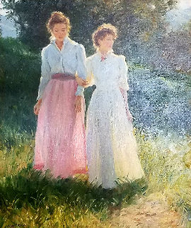 Untitled Painting 1985  32x28 Original Painting - Gregory Frank Harris