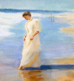 Water's Edge 1986 21x21 Original Painting - Gregory Frank Harris