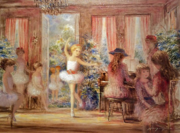 Ballerina in the Parlor 25x31 Original Painting - Harry Myers