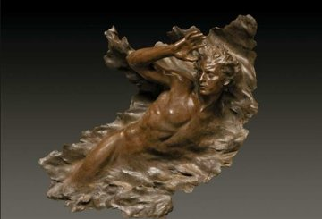 Ex Nihilo Figure 3, 2008 Bronze Sculpture 55 in Sculpture - Frederick Hart