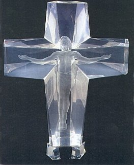 Cross of the Millenium Maquette Acrylic Sculpture 1995  12 in Sculpture - Frederick Hart