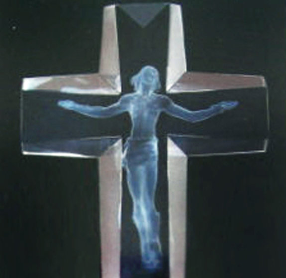 Cross of the Millennium Maquette Acrylic Sculpture AP 1995 12 inches