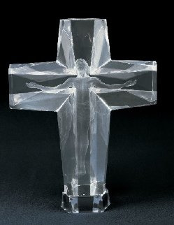 Cross of the Millennium Acrylic  1/3 Life Size  Large Sculpture 1992 Sculpture - Frederick Hart