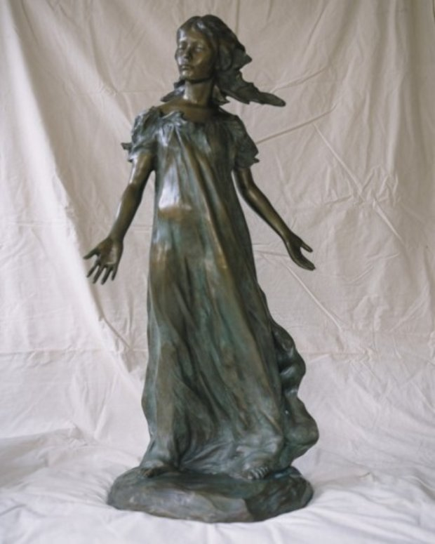 Youngest Daughter From Daughters of Odessa Bronze Sculpture 1997 43 in