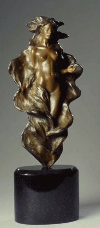 Woman With Outstretched Arm Bronze Sculpture 2002 15 in