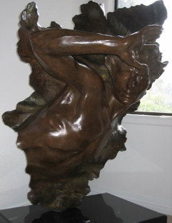 Ex Nihilo Fragment  3 Bronze Sculpture 2005 42 in Sculpture - Frederick Hart