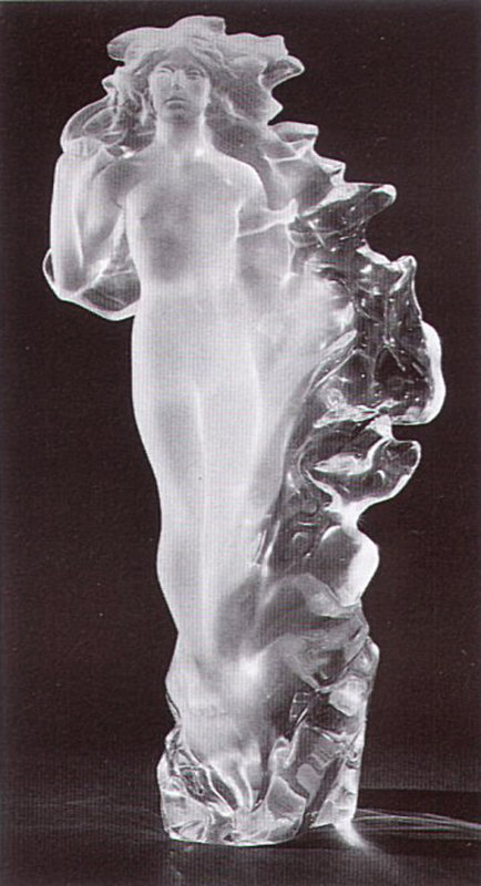 Veil of Light Acrylic Sculpture 1988 22 in