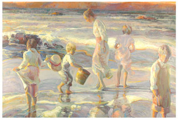 Frolicking at the Seashore 1998 Limited Edition Print - Don Hatfield