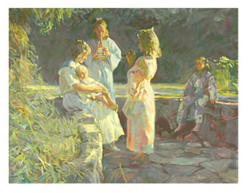 Flute Players Ap 1990 Limited Edition Print by Don Hatfield
