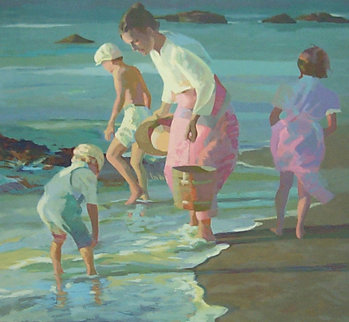 Searching For Shells  1988 Limited Edition Print - Don Hatfield