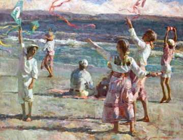 Summer Fun 2002 34x42 Original Painting - Don Hatfield
