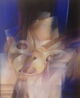 Untitled Music Painting 27x31 Original Painting - Henrik  Kinski