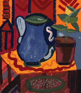 Blue Pitcher 1988 Limited Edition Print - Henry Miller