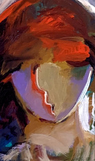 Man With a Chapeau 15x12 Original Painting - Abrishami Hessam