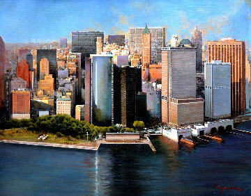 Manhattan, New York 2012 32x39 Original Painting - Jose Higuera