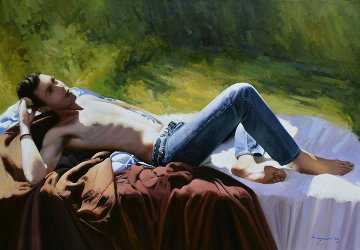 Rock Lover 2014 32x46 Original Painting - Jose Higuera
