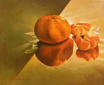 Tangerines 2012 20x24 Original Painting - Jose Higuera