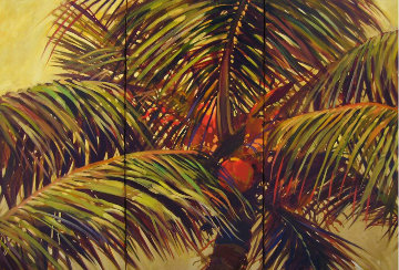 Island Dance 2009 48x72 Original Painting - Darrell Hill