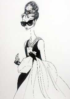 Audrey At Tiffanys 1999 Limited Edition Print - Al Hirschfeld