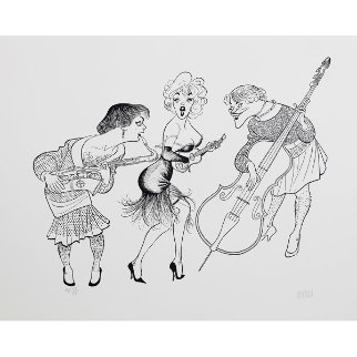 Some Like It Hot Limited Edition Print - Al Hirschfeld