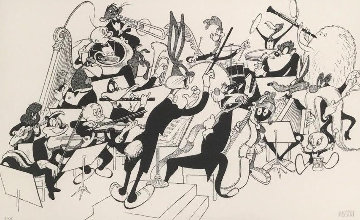 Orchestra Pit 1998 Limited Edition Print - Al Hirschfeld