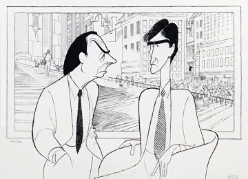 Law and Order Limited Edition Print - Al Hirschfeld