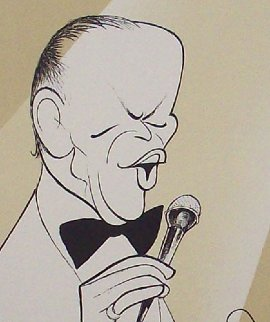 Chairman of The Board (Frank Sinatra) PP Limited Edition Print - Al Hirschfeld