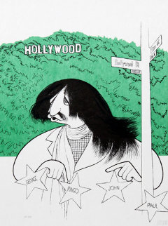Ringo Starr Visits Hollywood PP Limited Edition Print - Al Hirschfeld