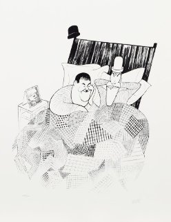 Laurel And Hardy (Sweet Dreams) From the March of the Wooden Soldiers Limited Edition Print - Al Hirschfeld