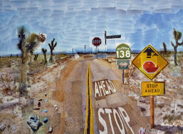 Pearblossom Hwy., 11 - 18th April 1986, #2  Hand Signed Poster  Limited Edition Print - David Hockney