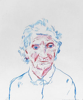 Portrait of Mother 3 1984 Limited Edition Print - David Hockney
