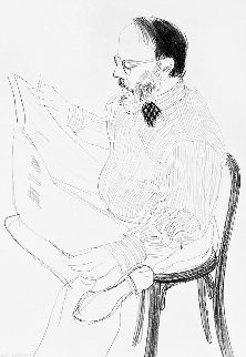 Henry Reading the Newspaper 1976 Limited Edition Print - David Hockney