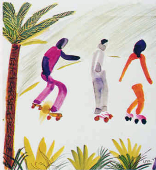 Skaters venice ca poster 1980 by david hockney for David hockney venezia