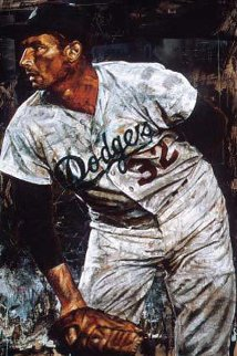 Sandy Koufax Embellished Limited Edition Print - Stephen Holland