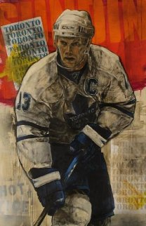 Mats Sundin 48x28 Original Painting - Stephen Holland