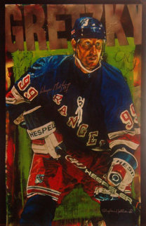 Wayne Gretzky New York Rangers 2000 Embellished HS by Gretsky Limited Edition Print - Stephen Holland