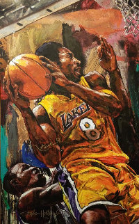 Kobe  Bryant 2002 HS by Kobe  Embellished Limited Edition Print - Stephen Holland