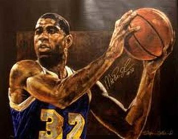 Magic Johnson 1997 Limited Edition Print - Stephen Holland