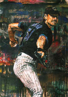 Randy Johnson 2002 Embellished  Limited Edition Print - Stephen Holland