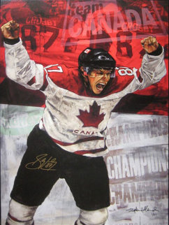 Sidney Crosby Embellished 2005 HS by Player Limited Edition Print - Stephen Holland