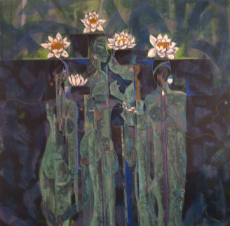 Wild Flowers AP 1990 Limited Edition Print - Lu Hong