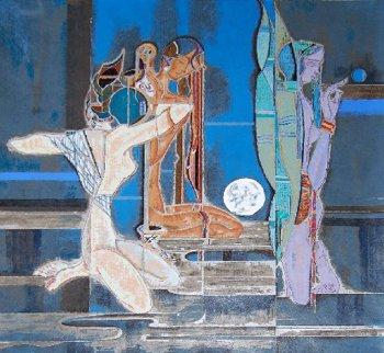 Full Moon And Water 1987 Limited Edition Print - Lu Hong