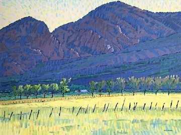 Sacred Montains 1984 33x39 Original Painting - William Cather Hook