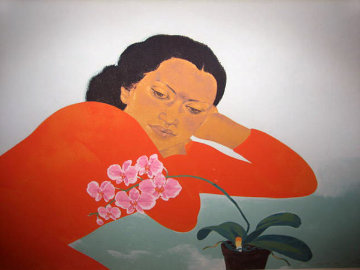 Butterfly Orchids 1983 Limited Edition Print - Pegge Hopper