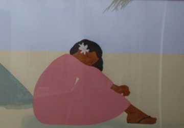 Untitled (Women on Hawaiian Beach) Set of 2 1980 Limited Edition Print - Pegge Hopper